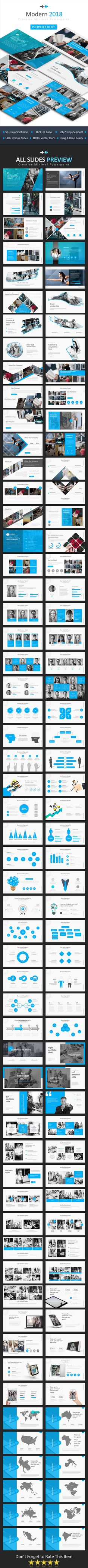 #Modern 2018 #Powerpoint - #Business PowerPoint Templates