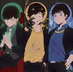 fav trio looking badass Cool Anime Pictures, Osomatsu San Doujinshi, Group Art, Ichimatsu, Anime Kawaii, Me Me Me Anime, Mafia, Vocaloid, Brother