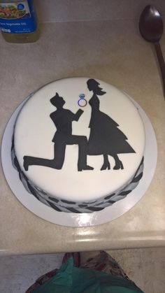 My sister made me and my fiancee an engagement cake for our engagement party.