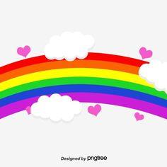 Rainbow Love Cloud Png And Psd Rainbow Cartoon Rainbow Balloons Rainbow
