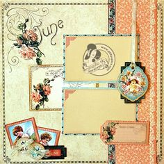 Graphic 45 - Place in Time June Layout - Scrapbook.com