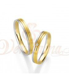 Βέρες γάμου δίχρωμες με διαμάντι Breuning 4213-4214 Couple Rings, Gold Rings, Jewelry, Jewlery, Jewels, Jewerly, Jewelery, Accessories