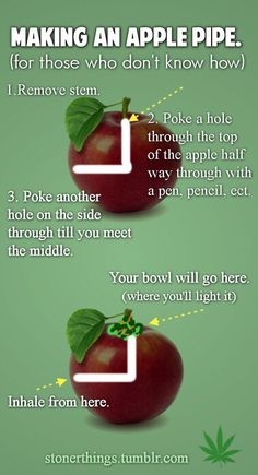 DIY apple pipe