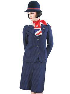 British Airways uniform - wore this '77-'85 #travel #alookat #airlines