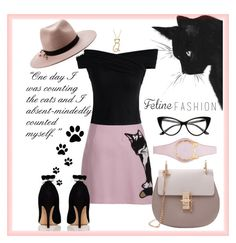 """""""I'm not a kitty, I'm a cat!"""" by srebrnisnijeg ❤ liked on Polyvore featuring MSGM, Chicwish, Kate Spade and Eugenia Kim"""