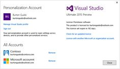 Welcome to Visual Studio 2015