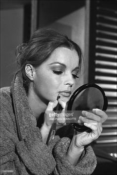 Romy Schneider's portraits In France In September, 1970 - Film: 'Max et les ferailleurs' with Michel Piccoli.