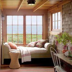 (via Coastal Sleeping Porch < New England Style Homes - Coastal Living on we heart it / visual bookmark #11759009)