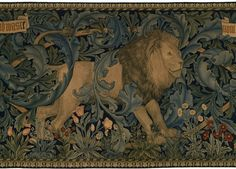 william morris art with animals - From his tapestry - The Forest.