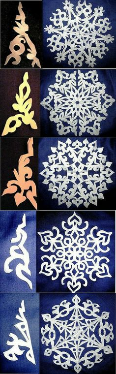 New diy paper design snowflake template ideas Holiday Crafts, Fun Crafts, Diy And Crafts, Christmas Crafts, Crafts For Kids, Christmas Decorations, Arts And Crafts, Paper Snowflake Template, Paper Snowflakes