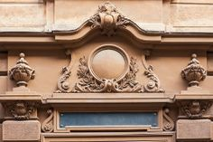 Photo about Architectural detail of old building. Image of facade, rosette, stone - 6638939 Old Building, Architecture Details, Baroque, Facade, Clock, Stock Photos, Stone, Vectors, Image