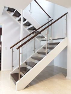 Hovi-portaat | Puuinfo Railing Design, Staircase Design, Glass Railing, My Dream Home, Interior Styling, Modern, House Plans, New Homes, Stairs
