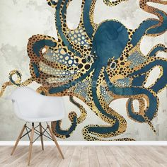 Transform your home with this amazing Underwater Dream VI wall mural. Custom-made to fit your wall perfectly. FREE UK delivery within 2 to 4 working days. Bathroom Mural, Bathroom Wallpaper Fish, Fish Wallpaper, Art Deco Wallpaper, Wallpaper For Walls, Custom Wallpaper, Art Deco Furniture, Mural Art, My New Room