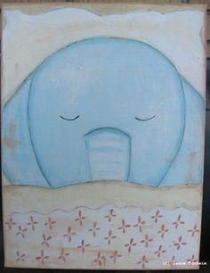 Lerret God natt - Elefant
