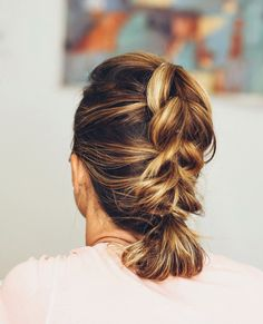 Step-by-Step Tutorial to creat this beautiful….  FRENCH PULL THROUGH BRAID  PERFECT W/A LOB & IT'S SHORTER LENGTH Braids can be tricky & frustrating to try to pull off on shorter or layered hairstyles That's what makes this hassel free braided style a breeze to create.