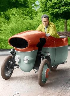 Wolfgang's Trautwein Duofront, 1955. Cool Motorcycles, Vintage Motorcycles, Weird Cars, Cool Cars, Choppers, Reverse Trike, Vintage Cars, Antique Cars, Moto Cafe