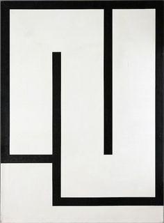 Julije Knifer | Tühda W2, 1986 | acrylic on canvas #art #painting