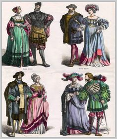 1500s costumes.  Not a skinny lady here!