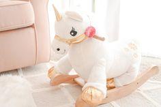 Cute unicorn rocker for nursery - Gift Guide For Babies Nursery Rocker, Nursery Room, Girl Nursery, Nursery Ideas, Room Ideas, Little Ones, Little Girls, Diaper Bag, Baby Unicorn