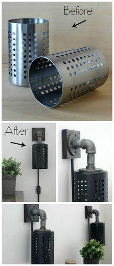 "So baut ihr euch eure eigene ""Industrie-Lampe"" aus diesem IKEA-Utensil! #IKEAhacks #industrial"