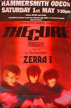 The Cure live concert: 01.05.1982 London - Hammersmith Odeon (England)