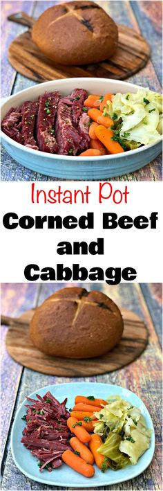 Instant Pot Corned Beef and Cabbage is a pressure cooker recipe perfect for Irish St. Patrick's Day. This recipe is easy to make and includes juicy corned beef brisket, cabbage, and carrots. Perfect recipe for holidays and gatherings. #StPatricksDay #StPatricksDayRecipes #InstantPot #InstantPotRecipes #PressureCooker #PressureCookerRecipes