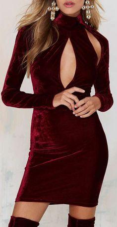 Oh My Love Great Pretender Velvet Cutout Dress