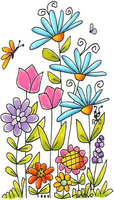 Flower drawing #clipart #patterns #colored #paintpatterns #designs