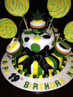 Easy to decorate Jamaican theme birthday cake Jamaican Party