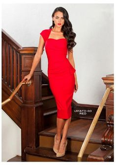 Oh la la. with Uma Dress in Red byStop Staring! all eyes will be on you! This sexy pencil dress is ultra-form fitting and the str. Dress Skirt, Dress Up, Bodycon Dress, Sheath Dress, Stop Staring Dresses, Pin Up, Navy Blue Dresses, Retro Dress, Pencil Dress