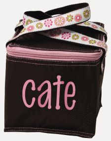 This is my go-to gift for new babies! Fits 4 baby bottles perfectly for moms on the go. And when the kids get bigger, can be used as a lunch box or daycare tote. Thanks GoosiePie Monograms for this excellent gift idea!