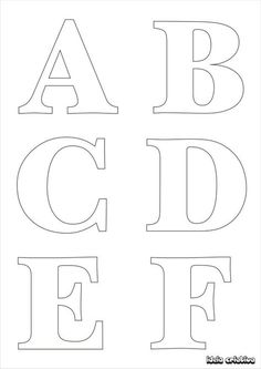 letras para imprimir mayusculas buscar con google