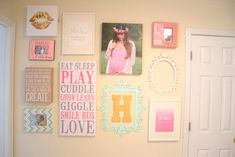 Fun and Girly Gallery Wall