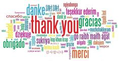 thank you multilingual