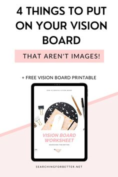 4 Vision Board Ideas That Aren't Images! These are great DIY examples and ideas on how to create an amazing vision board for your life or business. The best part about this post is the ideas and examples are not just images!! These are 4 DIY things you can to do create an inspirational vision board for your life or business! Positive Living, Positive Mindset, Digital Vision Board, Journal Writing Prompts, Creating A Vision Board, Meaningful Life, Board Ideas, Self Improvement, Law Of Attraction