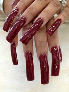 24 Ideas Nails Long Square Acrylics Products For 2019 Nail Ideas nail ideas long square Sexy Nails, Hot Nails, Trendy Nails, Long Square Acrylic Nails, Long Square Nails, Long Red Nails, Long Fingernails, Curved Nails, Exotic Nails