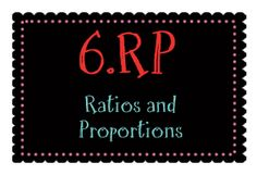 6th grade lessons that cover ratios and proportional relationships 6.RP.1 6.RP.2 6.RP.3