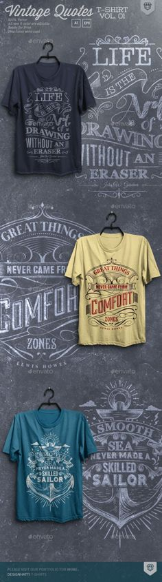 41cb8a74 Buy Vintage Quote T-Shirts by designhatti on GraphicRiver. Vintage Quote T-ShirtsT-  Shirts are vector based built in Illustrator software.