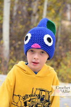 Blue Pikmin Hat, - Adult, Crochet By Allie Cute Crochet, Crochet Baby, Halloween Crochet, Knitting Yarn, Knitting Ideas, Birthday Fun, Birthday Ideas, Family Costumes, Creative Crafts