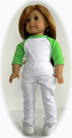 American Girl 18 inch Doll--Trendy Baseball Tee