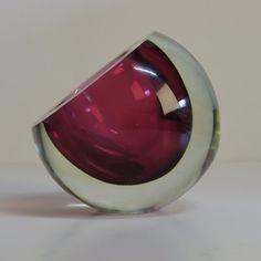 Murano Somerso Glass Ashtray. Antonio Da Ros 1950 - 1955.