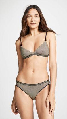 72f85651f8 Stella McCartney Lame Triangle Bikini Top Triangle Bikini Top, Crochet  Bikini, Bikini Tops,. shopstyle.it