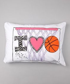 Personalized I Love Basketball Pillow Case