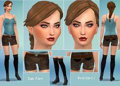 Sims 4 Updates: Sims Fans - Clothing, Female : Lara Croft's Suite by Kresten 22, Custom Content Download!