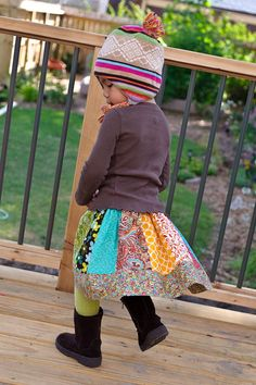 panel twirl skirt for little girls.  Can't you see this with a tank top and sandals in the summer also?