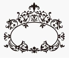victorian flower silhouette | Baroque | Vector Floral