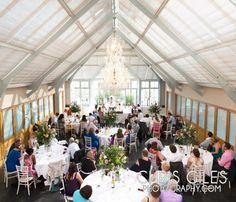 dining inside the atrium at Botleys Mansion