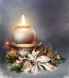 Merry Christmas & Happy New Year ! Merry Christmas Gif, Christmas Scenes, Christmas Candles, Merry Christmas And Happy New Year, Christmas Pictures, Christmas Wishes, Christmas Art, Christmas Greetings, Winter Christmas