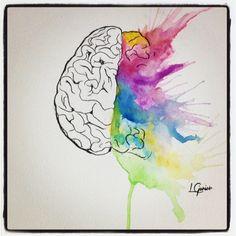 My brain • Watercolor #watercolor #watercolors #art_ #arte #art #brain #creative #explosion #aquarela #lcjunior #spotlightonartists #artoftheday
