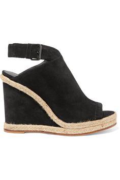 7f4f2475785f VINCE Evangeline jute-trimmed suede wedge sandals.  vince  shoes  sandals  Platform